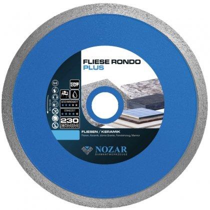 Tarcza diamentowa Nozar / 230 x 25,4 mm / Fliese Rondo Plus