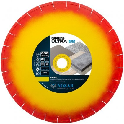 Tarcza diamentowa Nozar Gres-Ultra-S2 Ø350 | mocowanie 30/25,4 mm